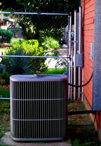 A picture of an outdoor AC unit