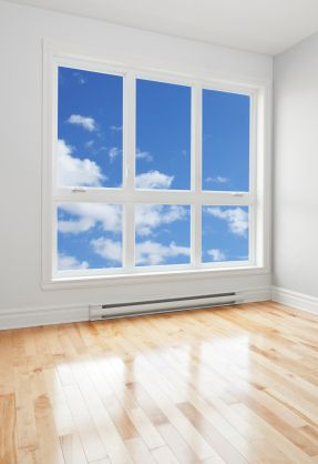 An image of a window showing clear skies and clean air