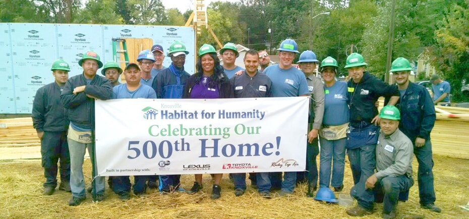 one hour of knoxville supports habitat for humanity