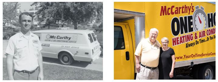 before and after image of owner john mccarthy