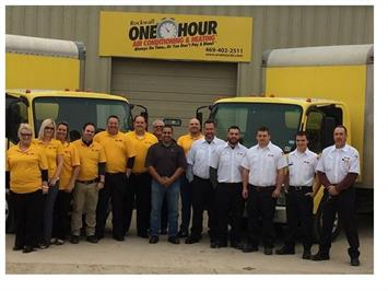 Rockwall One Hour Air Conditioning & Heating Team Photo